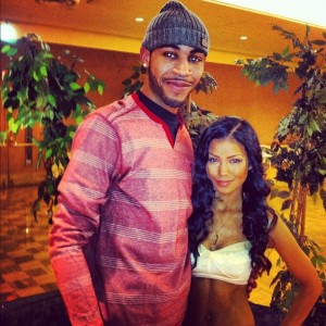 Ryan with Jhene Aiko at NIU.