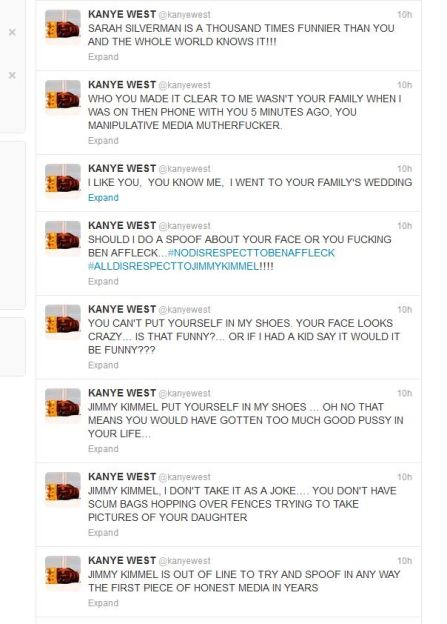 Kaney West Twitter rant