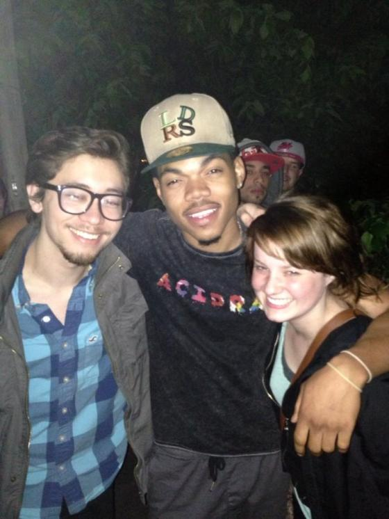Kyla & @JohnTaylorTweets with Chance The Rapper (I didn't move fast enough smh)