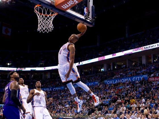 Westbrook, forever dunking