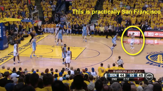 Steph melting faces from miles away (Breakdown by Mike Prada/SB Nation)