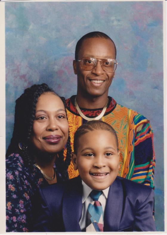 My dad, mom and I