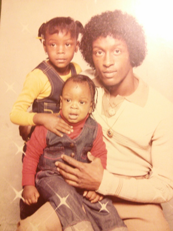 My dad with one of my older sisters and my older brother